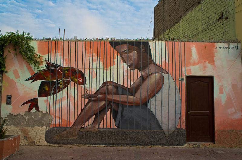 Street art in Huanchaco, Peru by Jade
