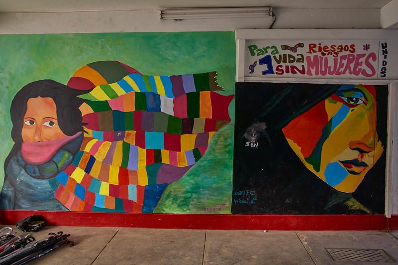 Mural in Huaraz, Peru