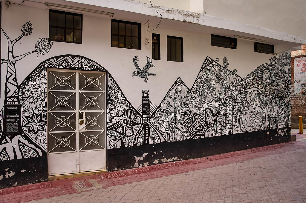 Street art in Huaraz, Peru