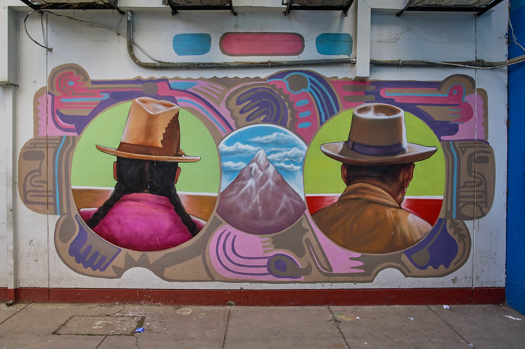 Mural by Decertor in Huaraz, Peru