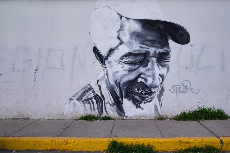 Mural by Spear in Huaraz, Peru