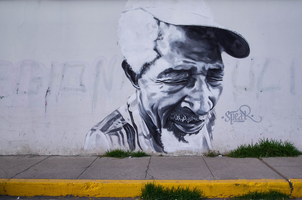 Mural by Spear in Huaraz, Peru
