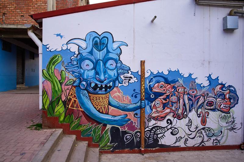 Mural by Zhimpa in Huaraz, Peru