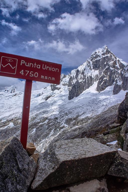 View at Punta Union on the Santa Cruz trek in Peru