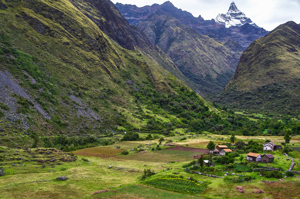 Village on the Santa Cruz trek in Peru