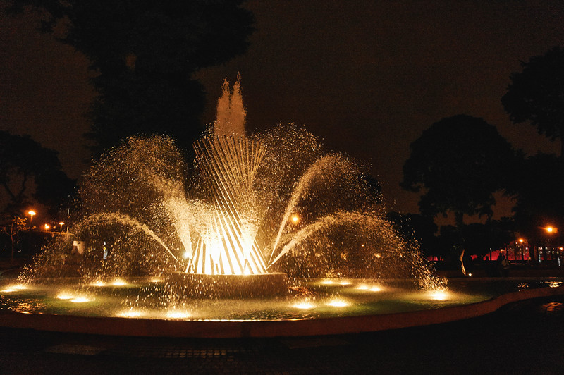 Fountain at the Magic Water Circuit in Lima, Peru