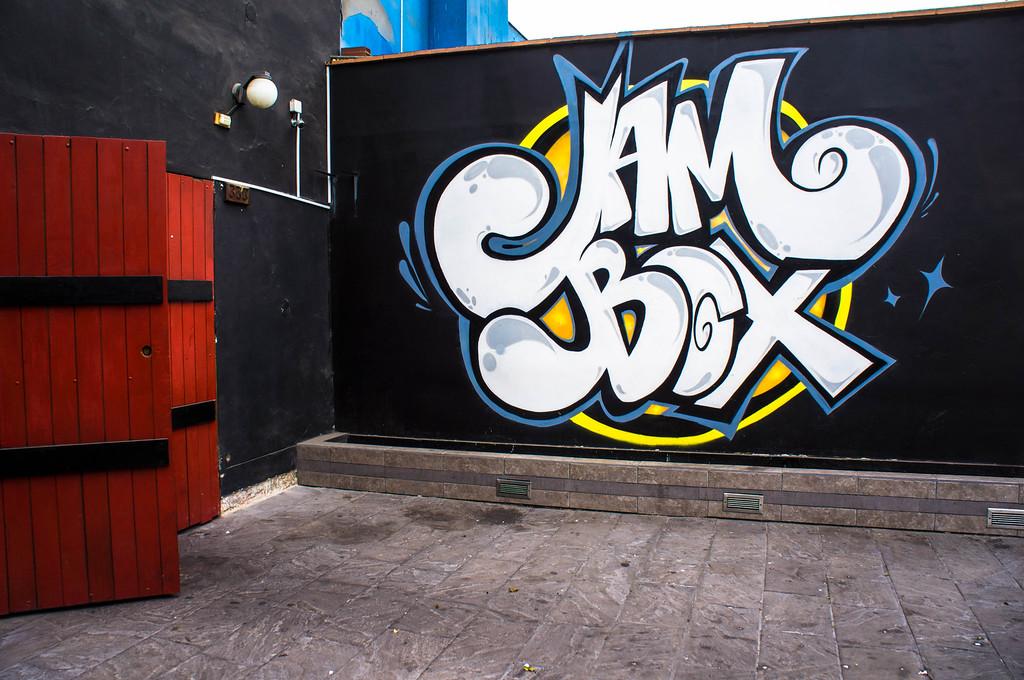 Street art in Lima, Peru