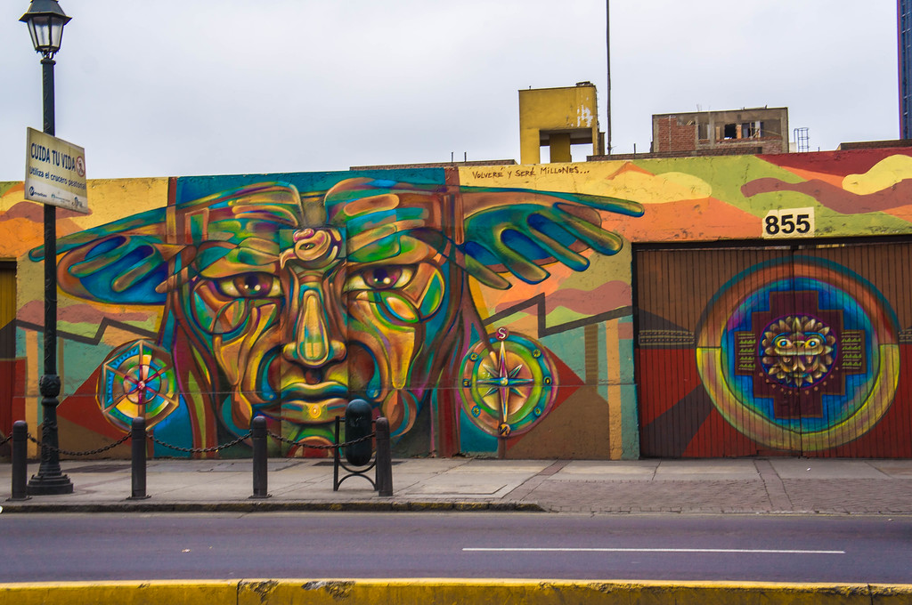 Street art in Lima, Peru  by Guache