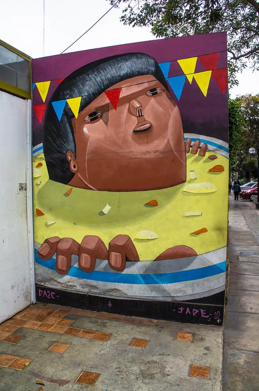 Street art in Lima, Peru  by Jade & DA2C