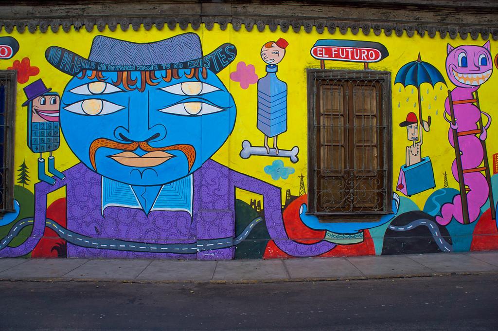 Mural in Barranco, Lima (Peru)