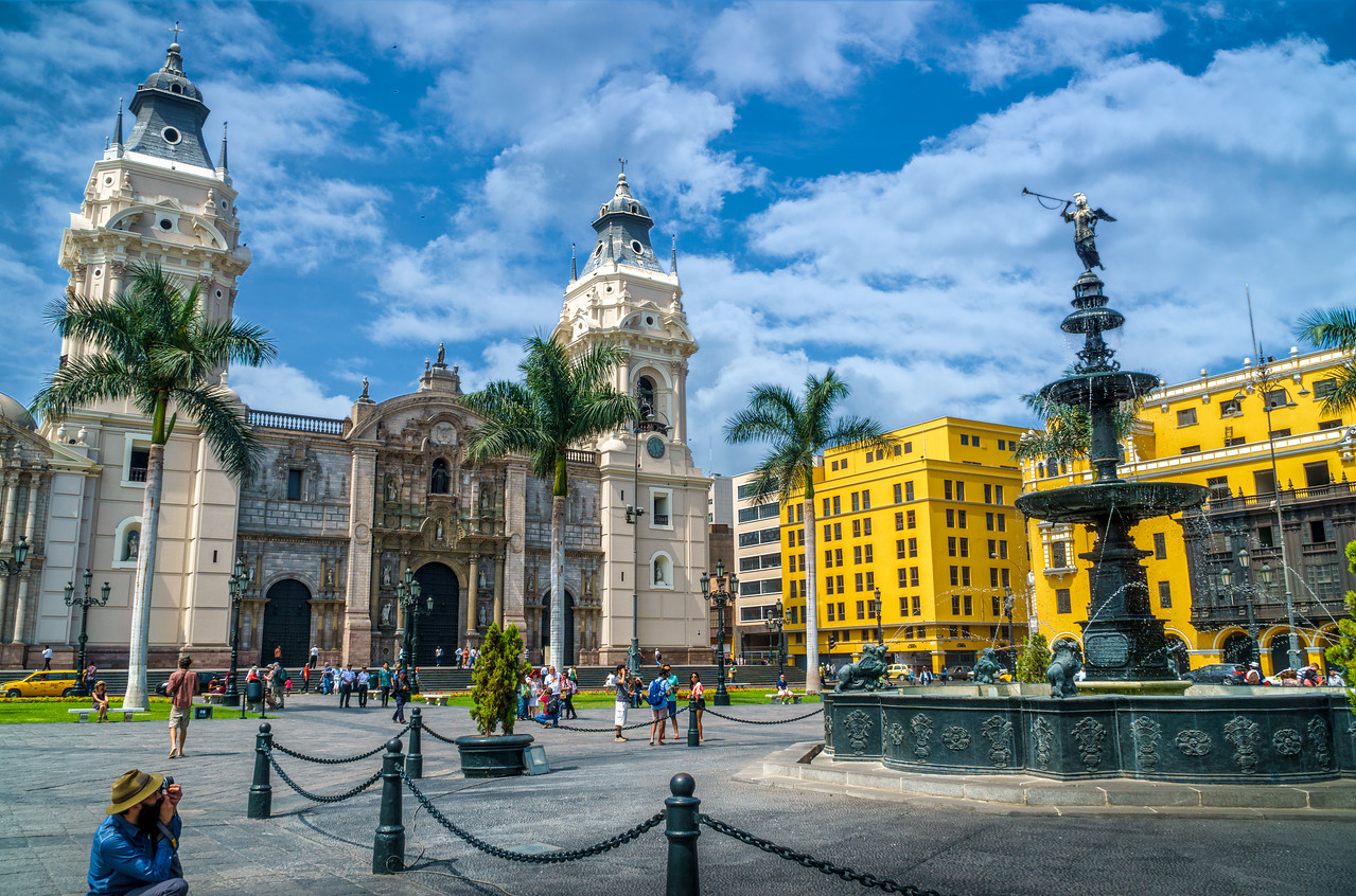 Plaza Mayor de Lima (Main Square of Lima).