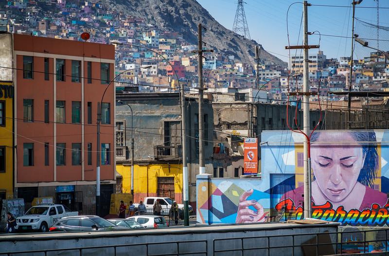 Intriguing Favela-like area of Lima.