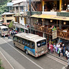 There are two ways to go up to Machu Picchu  from Aguas Calientes.  You hike up; or you take the shuttle.  We're going to ride up and conserve our energy.<br /> (Most of these people are waiting to purchase shuttle tickets; it's a good idea to buy the tickets in advance.)
