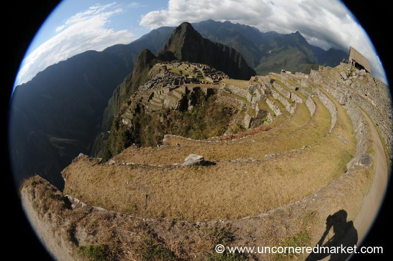 Late Afternoon Fisheye View of Machu Picchu
