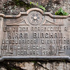 Machu Picchu<br /> Roughly translated, this plaque recognizes and thanks Hiram Bingham for the scientific discovery of Machu Picchu in 1911.