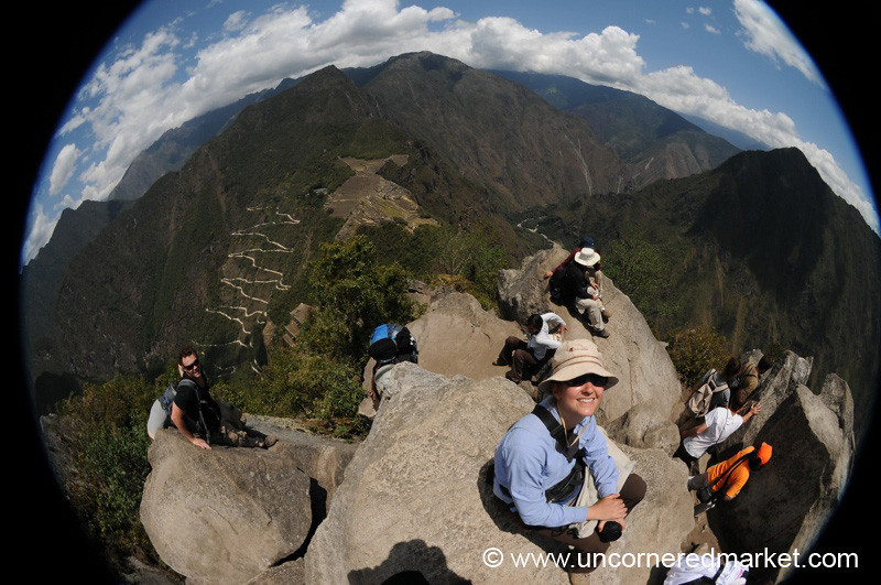 Hanging Out at the Top of Wanya Picchu