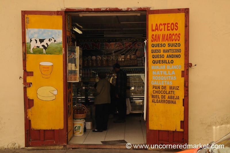 Milk Shop - Cajamarca, Peru