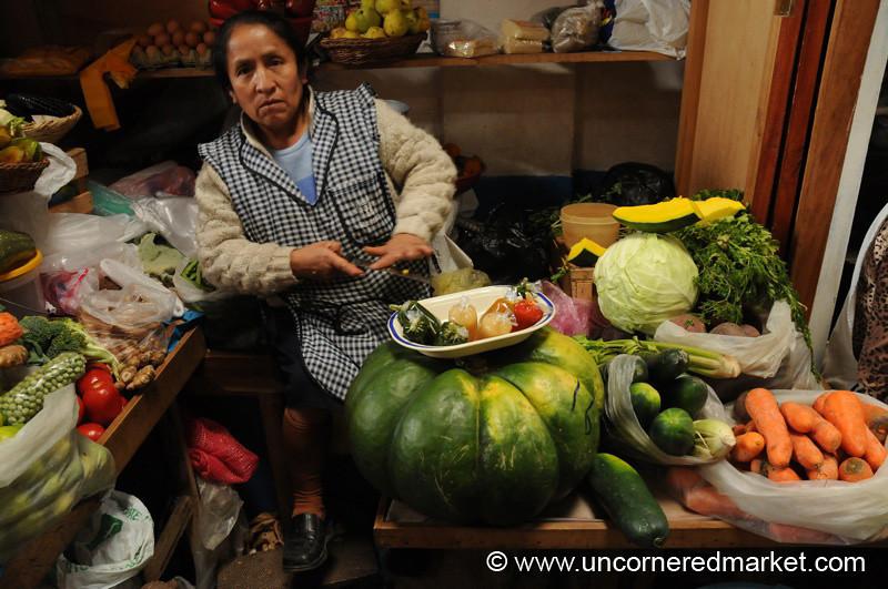 Pepper and Squash Woman - Cajamarca, Peru