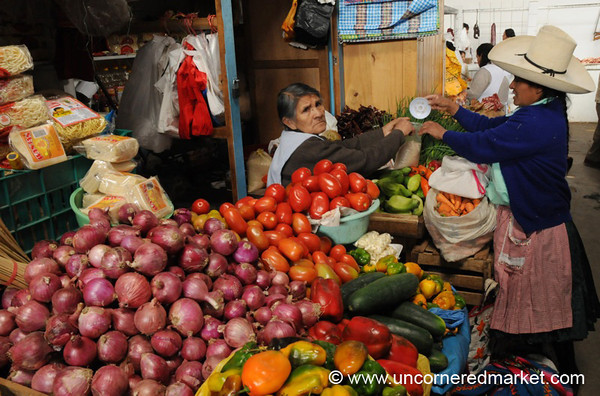 Saturday at the Market - Cajamarca, Peru