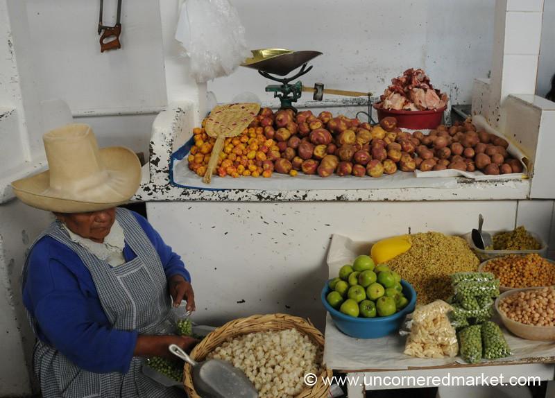 Cajamarca Market Stall, Peru