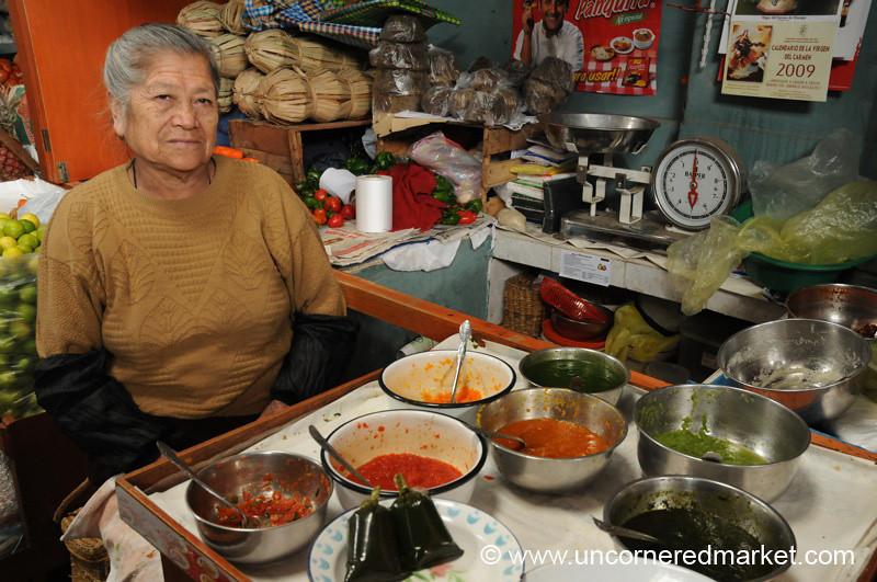 Aji Pepper Sauce Vendor - Cajamarca, Peru