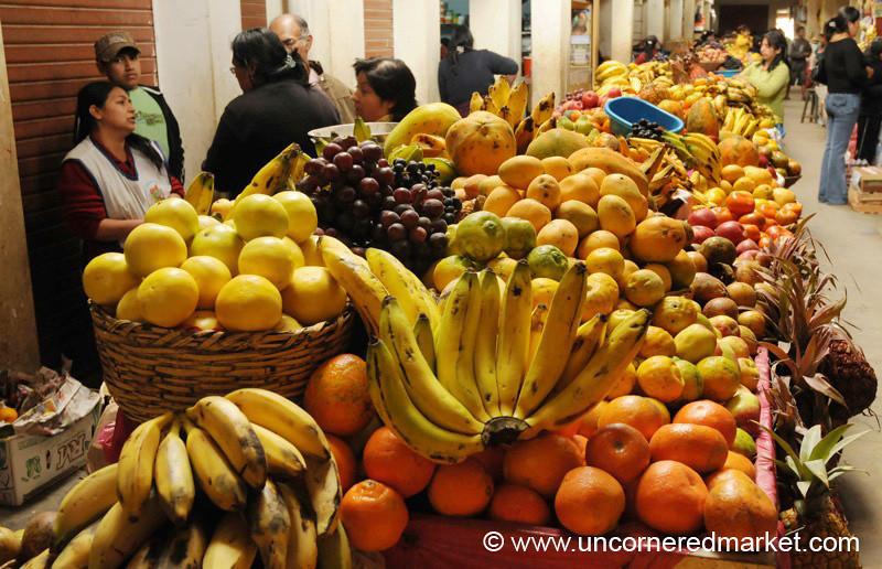Piles of Fruit - Chachapoyas, Peru