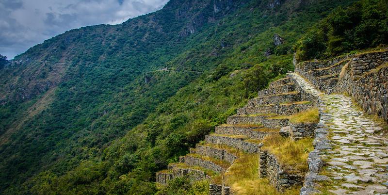 Inca Trail to Inti Punku ( Sun Gate) above Machu Picchu