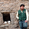Colca Valley, Wilfredo explaining burial site