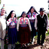 being dressed up as locals on Isla Amantani -  Lake Titicaca