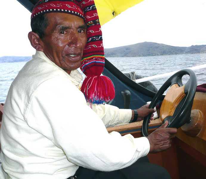 Captain of our boat on lake Titicaca