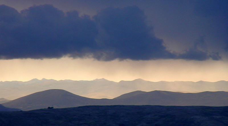 Storm arriving over Lake Titicaca
