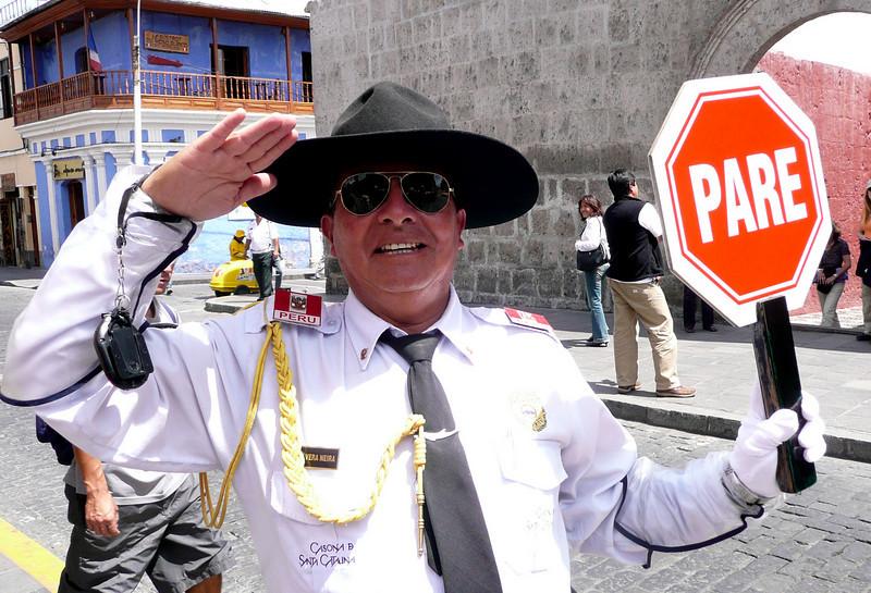Friendly Street Crossing Guard