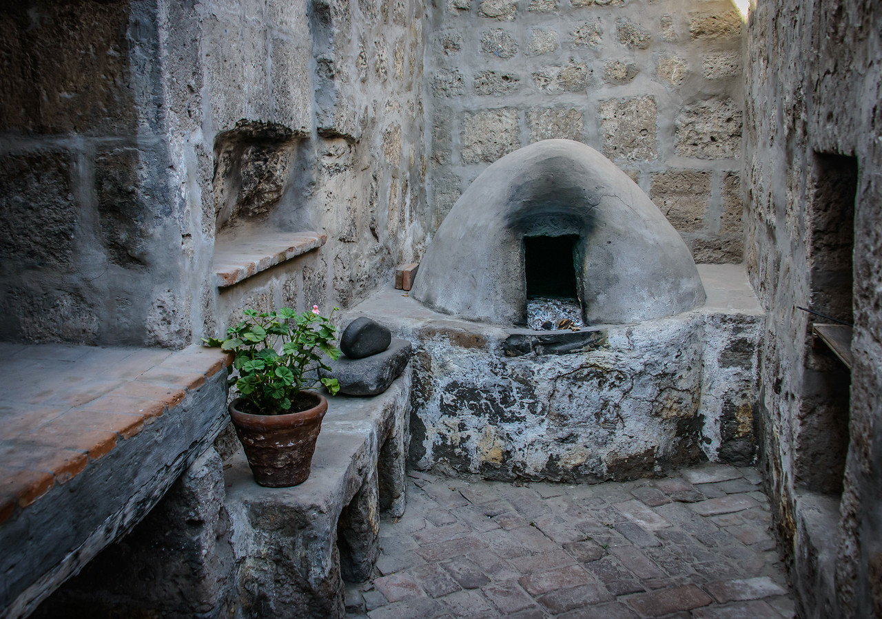 Adobe oven in kitchen of cloisterd nun's cell