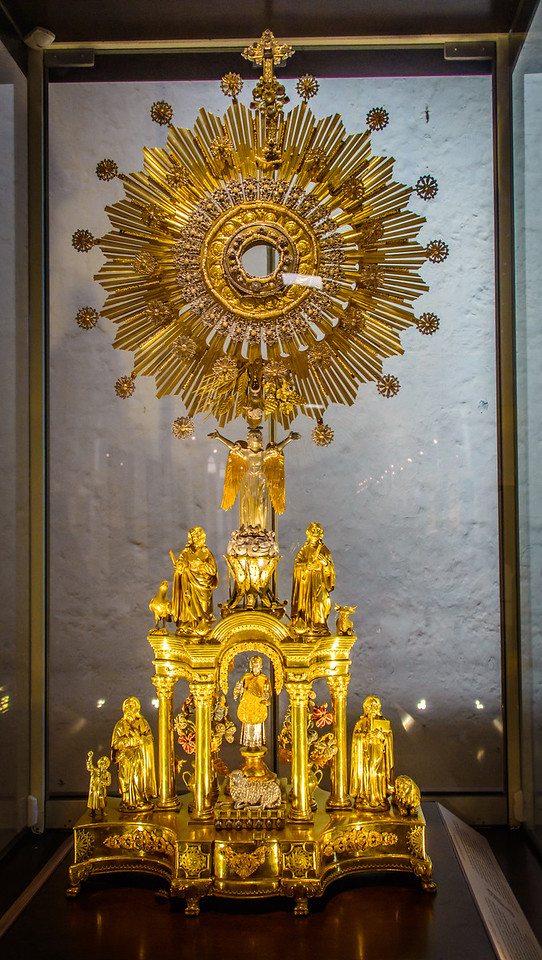 Golden Monstrance for Eucharistic adoration