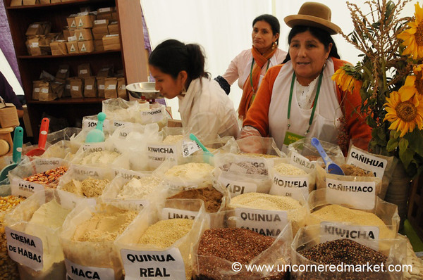 Organic Grains and Seeds - Mistura Gastronomy Festival in Lima, Peru