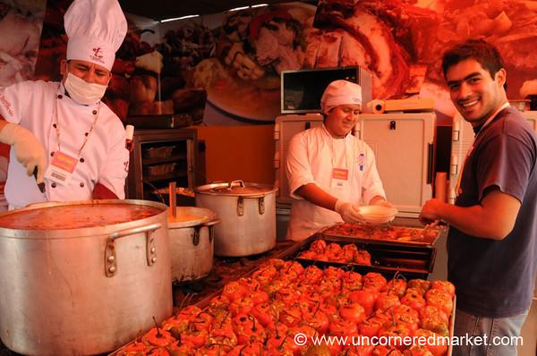 Rocotos Rellenos - Mistura Gastronomy Festival in Lima, Peru