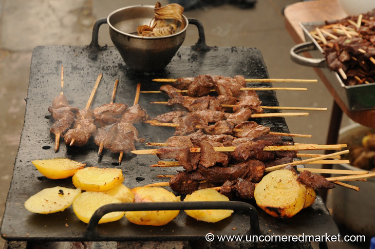 Anticuchos in Barranco - Lima, Peru
