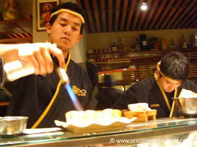 Flambeed Sushi Rolls - Lima, Peru