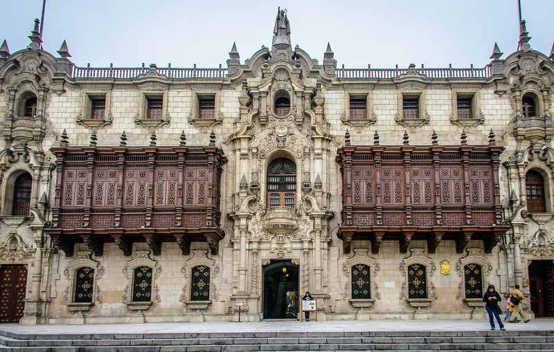 Palacio Episcopal in colonial Lima Centro