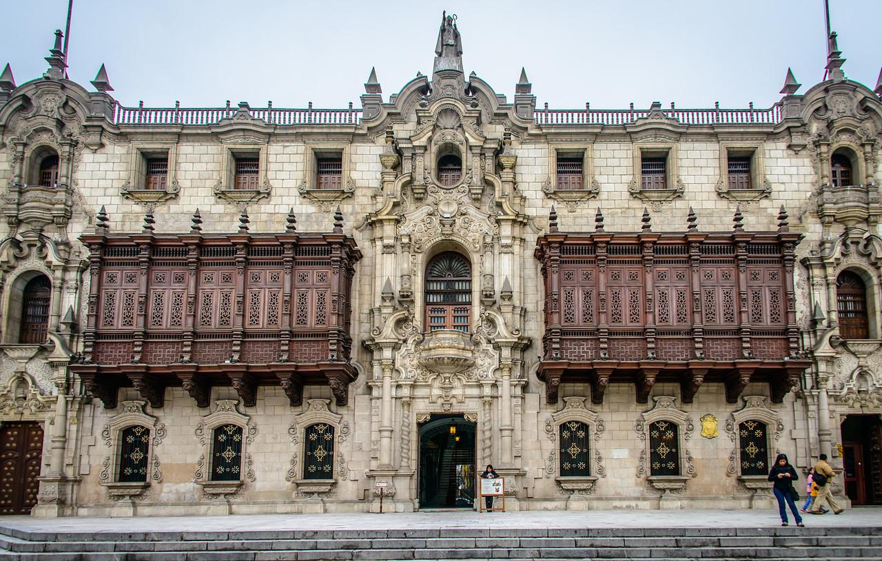 Palacio Episcopal in colonial Lima Centro