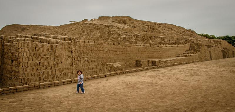 Huaca Pucllana, Pre-Inca Adobe Temple - Circa 200-500  ACE - Miraflores, Peru