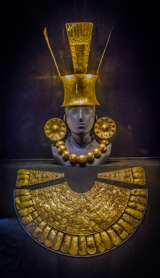 Chimu-Gold Funerary Offering - circa 1300-1532 AD