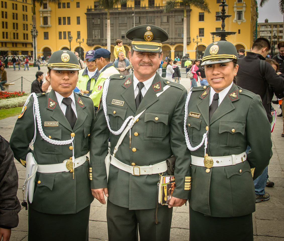 Local Police, Plaza de Armas, Lima Peru