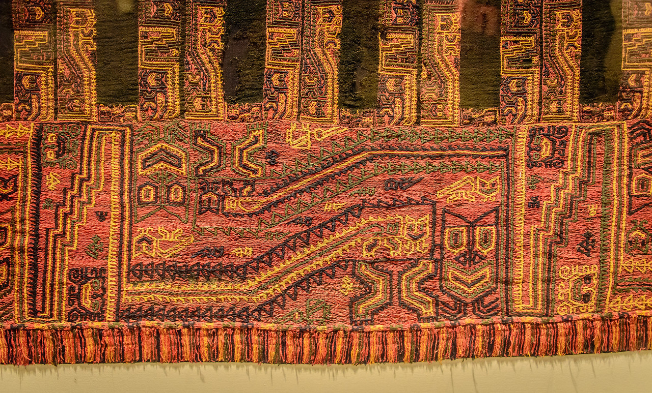 Examples of Paracaras Mantles used to wrap Funerary Bundles