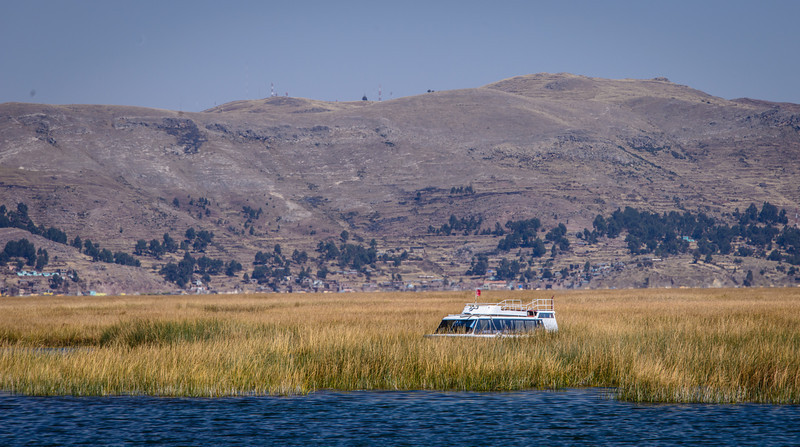 Heading out to open water on Lake Titicaca