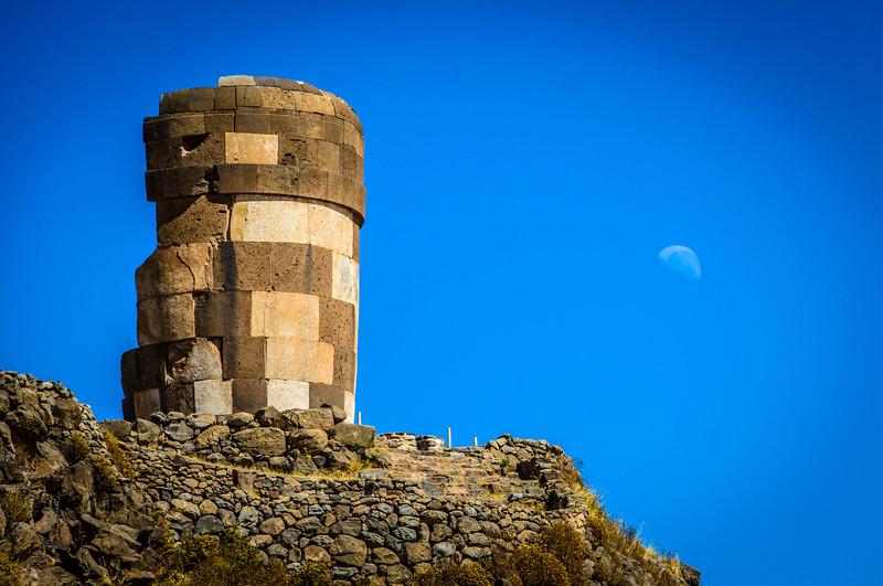 Necroplis Sillustani -has 28 Chullpas / Tombs erected between 900 - 1400 ACE