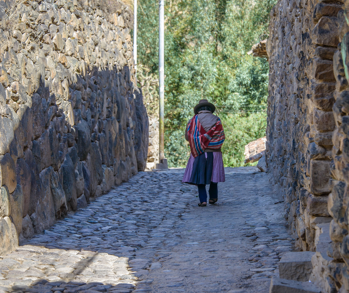 Town of Ollantaytambo -Stone Streets Made by Inca