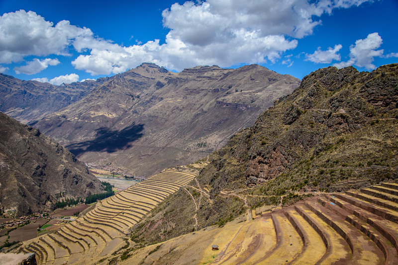 Inca Terraces in Pisac at 11,319 Feet Elevation