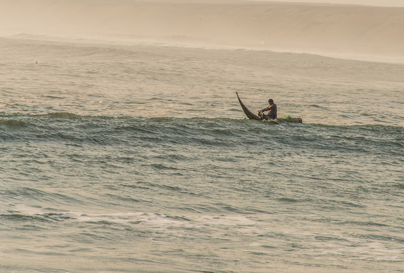 Fisherman on Caballitos de totora- used for more that 1000 years
