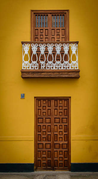 Balcony and Doors on Main Square, Trujillo